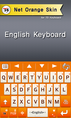 Net Orange for TS keyboard - screenshot