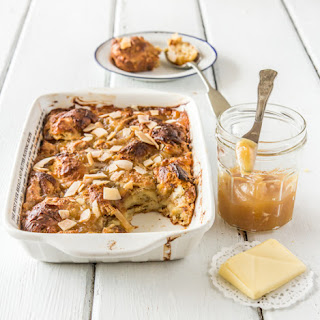 Coconut Croissant Pudding with Kaya (Coconut Jam)