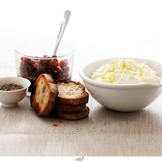 Fresh Ricotta & Onion Jam Crostini