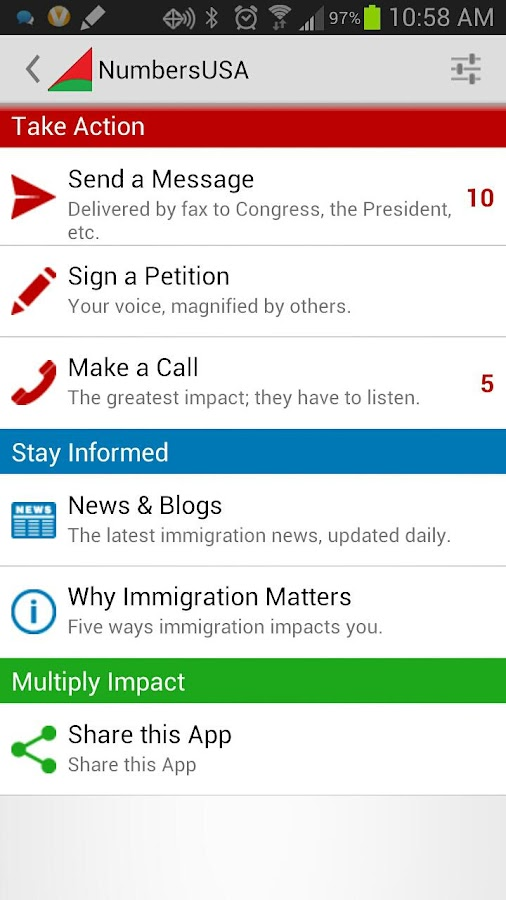 Immigration News & Activism- screenshot