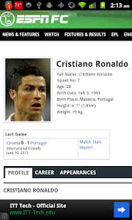 Ronaldo FIFA Widget - screenshot thumbnail