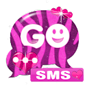 GO SMS Pro Pink Zebra Buy icon