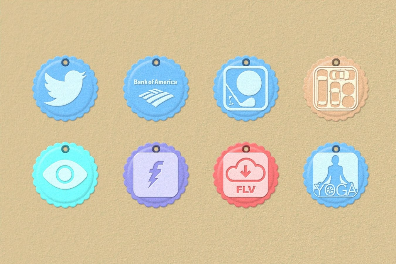 Paper Tag 1200 Icon Pack Theme - screenshot