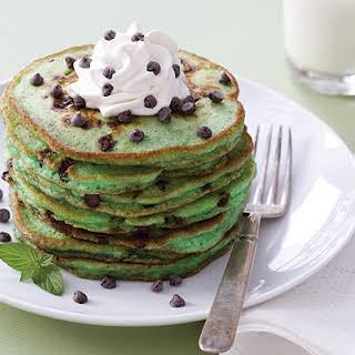 Mint Chocolate Chip Pancakes.