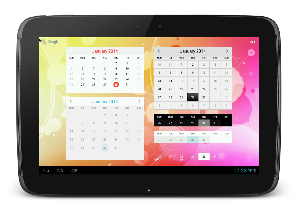 Google Kalender Widget Transparent