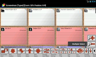 Screenshot of CardBoard Index Cards