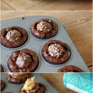 Ferrero Rocher Brownie Bites