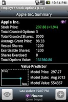 Screenshot of Employee Stock Options (Lite)