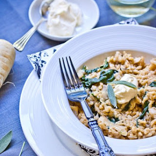 Parsnip Risotto with Mascarpone and Sage