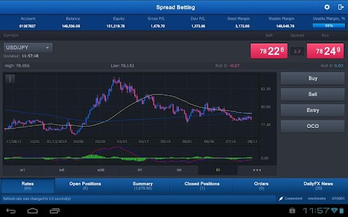 Spread Betting for Tablet- screenshot thumbnail