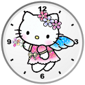 Hello Kitty Angel Clock Widget icon