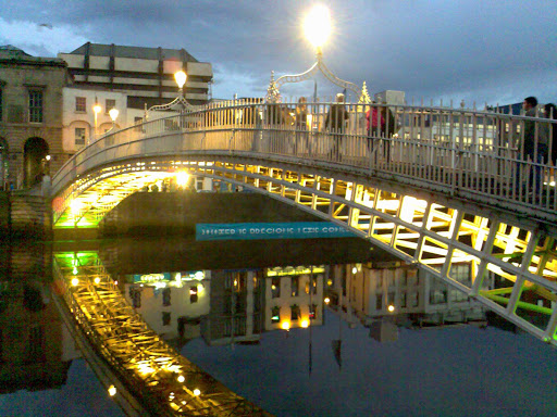 Bridge Liffey in Dublin, Ireland.