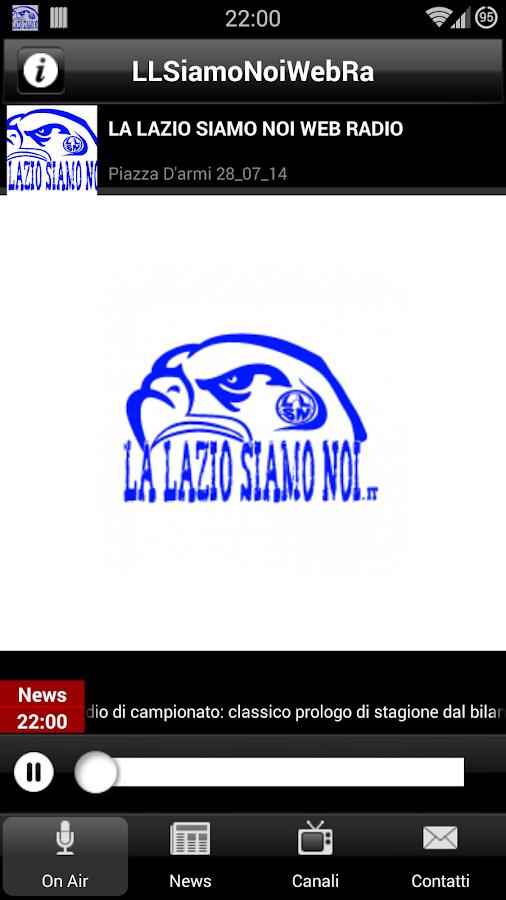 La Lazio Siamo Noi Web Radio - screenshot