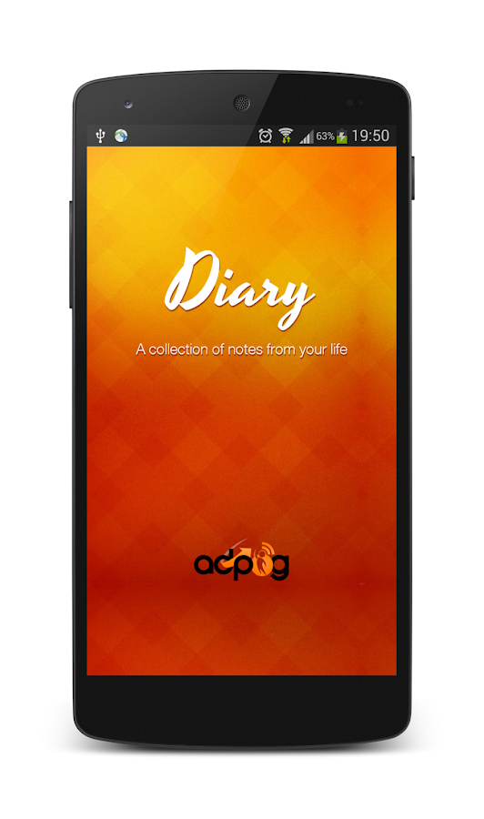 Diary notes - screenshot
