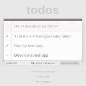 Todo with Phonegap + Iris