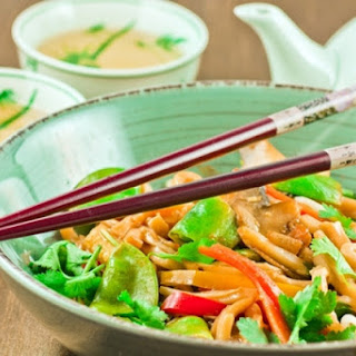 Stir-Fried Vegetables with Orange and Mint.