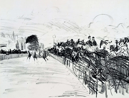 Les Courses (The Races at Longchamps)