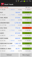 Screenshot of StockTouch BSE Sensex Live