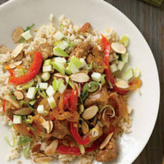 Ginger BBQ Pork or Chicken Stir-Fry.