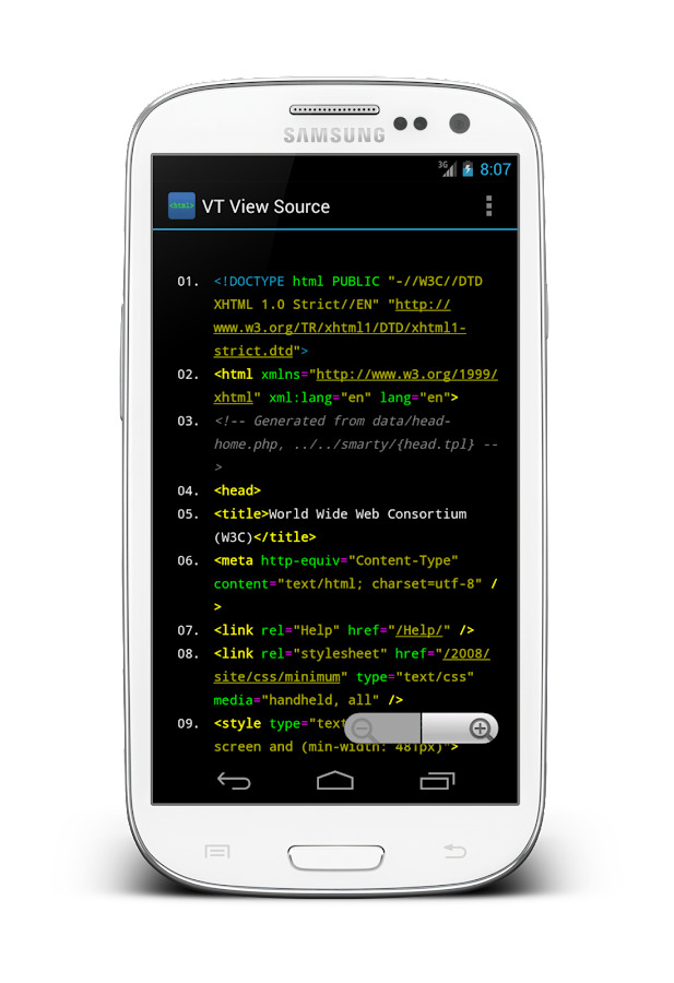 VT View Source- screenshot