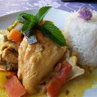 Chicken Stew With Coconut Milk.