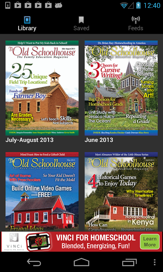 The Old Schoolhouse Magazine - screenshot