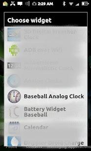 Baseball Clock Widget- screenshot thumbnail