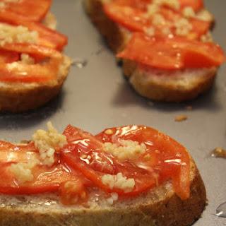 Crispy Tomato and Goat Cheese Bruschetta.