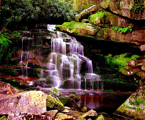 Purple Waterfall Wallpaper Android Apps On Google Play