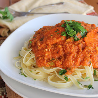 Fettuccine with Red Lentil Sauce