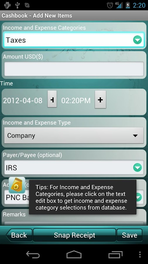 Cashbook - Expense Tracker- screenshot