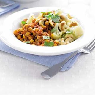 Cauliflower & Cashew Pilaf with Chickpea Curry Recipe