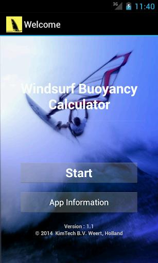 Windsurf Buoyancy App