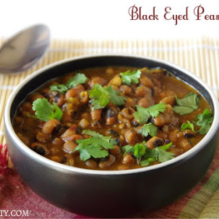 Black Eyed Peas Curry.