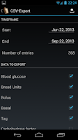 Screenshot of Diabetes Diary
