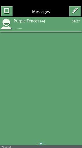 Green White Black GoSMS Theme