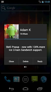 SMS Popup- screenshot thumbnail