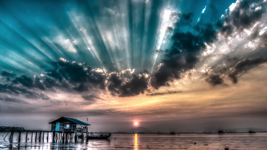 R A Y S  by Patrick Loo - Landscapes Sunsets & Sunrises ( ray, ray of light, sunrise, landscapes, landscape, rays,  )