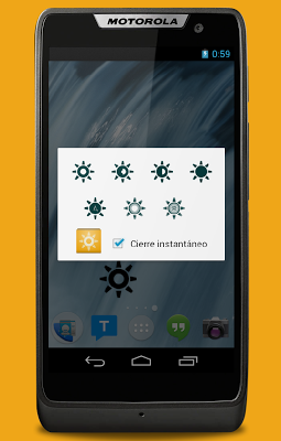 Configurable brightness preset - screenshot