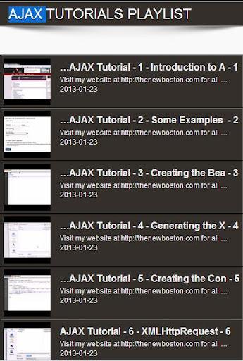 AJAX Video Tutorials