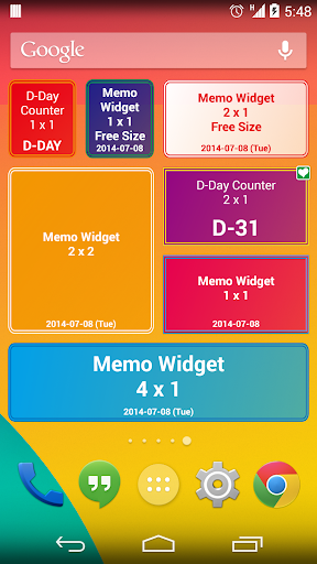 D-Day Counter Memo Widget