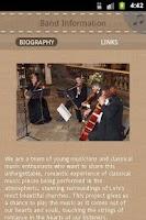 Screenshot of Viva String Quartet