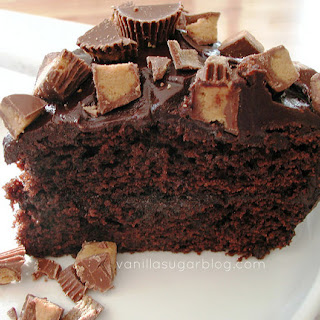 Chocolate & Peanut Butter Cake W/ Ganache & Reese's Pb Cups