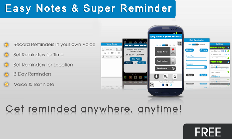 Easy Notes & Super Reminder - screenshot