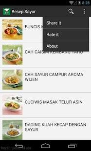玩免費生活APP|下載Resep Sayur Lengkap app不用錢|硬是要APP