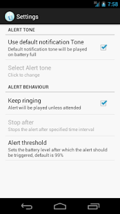 Battery Full Alarm Pro screenshot