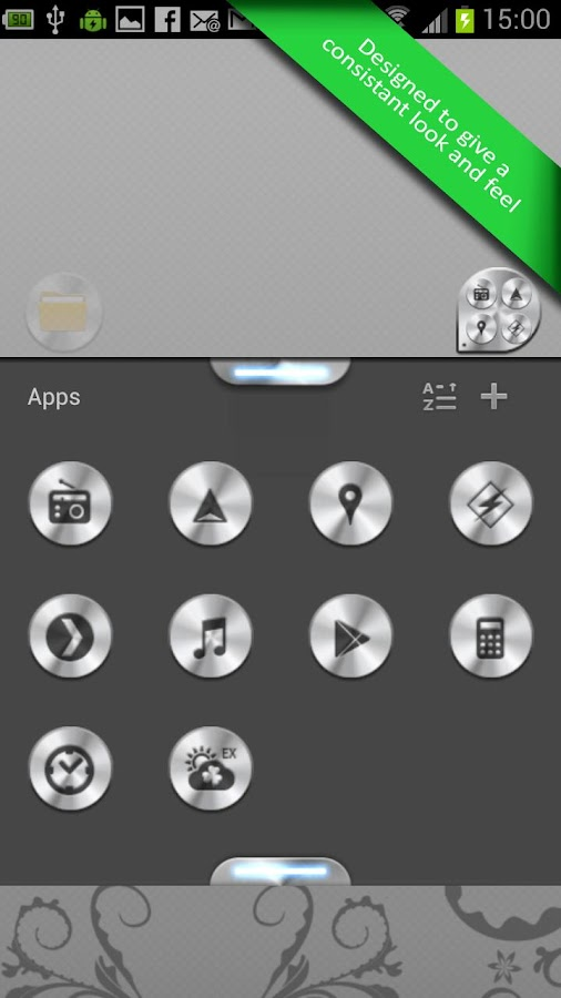 Go launcher Glass & Aluminium - screenshot