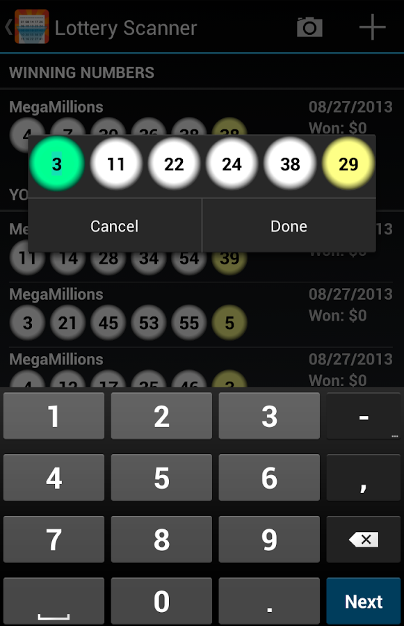 lotto scanner app