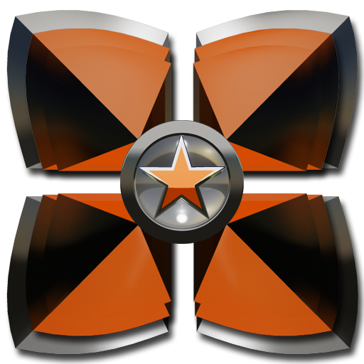 Next Launcher theme Orange Sta