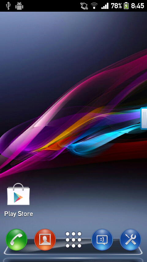 Xperia z1 Next launcher theme - screenshot